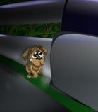 Perro abandonado stock de ilustración