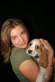 Perro afortunado Fotos de archivo libres de regalías
