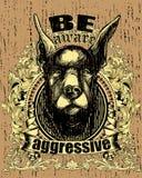 Perro agresivo Fotos de archivo