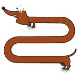 Perro basset Ilustración del Vector