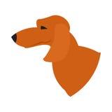 Perro basset de la cabeza de perro Libre Illustration