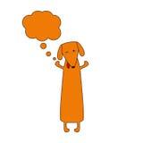 Perro basset lindo con la burbuja ideal Imagen de archivo