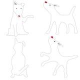 Perro blanco de bull terrier que actúa lindo ilustración del vector