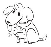 Perro blanco del fantasma libre illustration