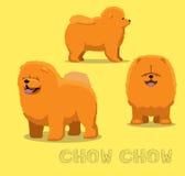 Perro Chow Chow Cartoon Vector Illustration Foto de archivo libre de regalías