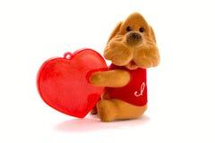 Perro con el corazón Imagen de archivo libre de regalías
