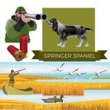Perro de aguas de saltador inglés stock de ilustración