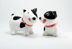 Perro de cerámica de los pares Fotografía de archivo