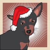 Perro de Christams fotografía de archivo