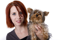 Perro de la familia Fotografía de archivo libre de regalías
