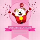 Perro de la fiesta de bienvenida al bebé Imagen de archivo libre de regalías
