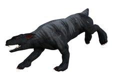 perro de la gárgola de la representación 3D en blanco Foto de archivo libre de regalías