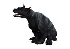 perro de la gárgola de la representación 3D en blanco Foto de archivo