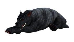 perro de la gárgola de la representación 3D en blanco Imagen de archivo