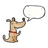 perro de la historieta con la burbuja del discurso Foto de archivo