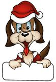 Perro de la Navidad stock de ilustración