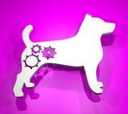 Perro de la tecnología Imagen de archivo libre de regalías