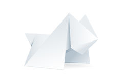 Perro de Origami. Imagen de archivo libre de regalías