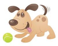 Perro de perrito juguetón ilustración del vector