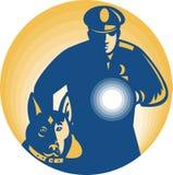 Perro de policía del policía del protector de seguridad Imagenes de archivo