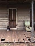 Perro de protector en el reloj Fotos de archivo libres de regalías