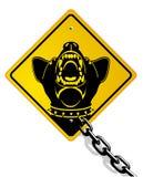 Perro de protector peligroso ilustración del vector
