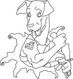 Perro de Tattoed ilustración del vector