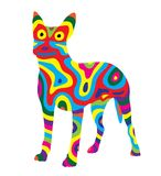 Perro 6 del arco iris stock de ilustración