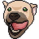 Perro del arte del pixel del vector amistoso Fotos de archivo libres de regalías