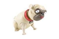perro del barro amasado del juguete de la Bobble-pista Foto de archivo libre de regalías