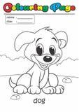 Perro del libro de colorante de la página del colorante Conveniente fácil del grado para los niños foto de archivo