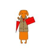 Perro del negocio Imágenes de archivo libres de regalías