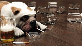 Perro deprimido Imagenes de archivo