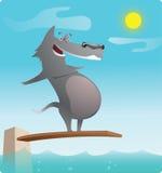 Perro divertido en el día de fiesta ilustración del vector