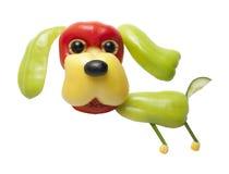 Perro divertido hecho de la pimienta fotos de archivo