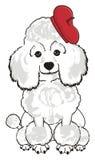 Perro en boina libre illustration