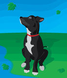 Perro en naturaleza ilustración del vector