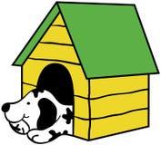 Perro en perrera libre illustration