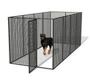 Perro en perrera Fotos de archivo