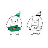 Perro en sombrero libre illustration