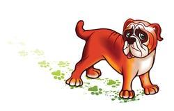 Perro encantador ilustración del vector