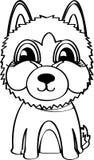 Perro esquimal siberiano Ilustración del vector Imágenes de archivo libres de regalías