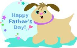 Perro feliz del día de Fatherâs Imágenes de archivo libres de regalías