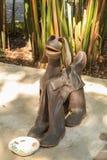 Perro hecho de las botas de goma de Wellington foto de archivo libre de regalías