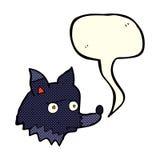 perro infeliz de la historieta con la burbuja del discurso Fotografía de archivo