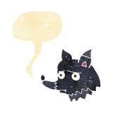perro infeliz de la historieta con la burbuja del discurso Foto de archivo libre de regalías