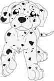 Perro lindo del dalmatian de la historieta stock de ilustración