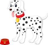 perro lindo del dalmation stock de ilustración