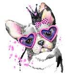 Perro lindo Gráficos de la camiseta del perro Fotos de archivo