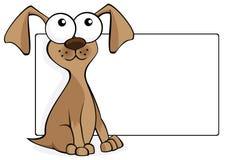 Perro marrón divertido ilustración del vector